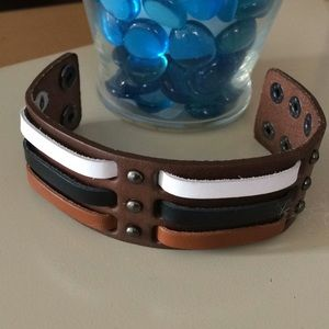Leather style wrap bracelet